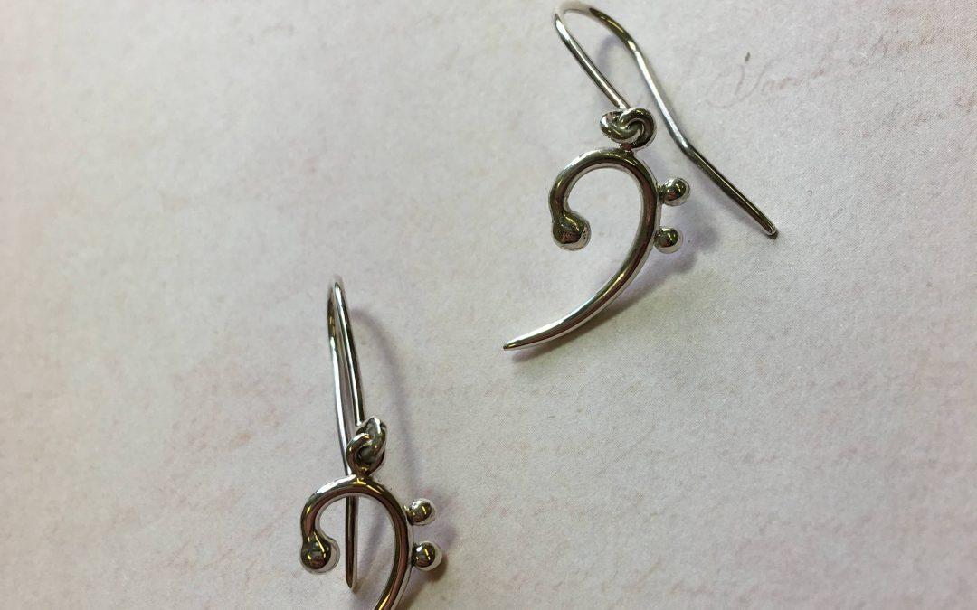 Bass Clef earrings