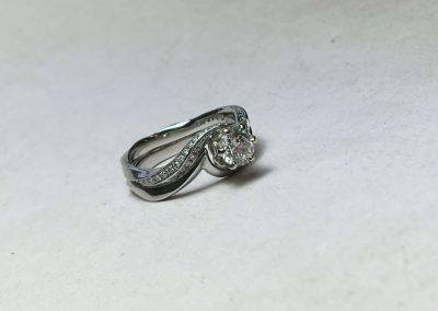 Platinum Twist Engagement Ring