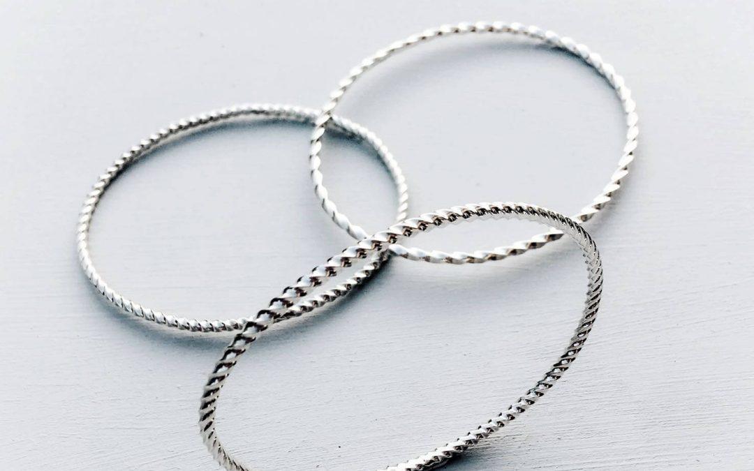 Twisted bangles