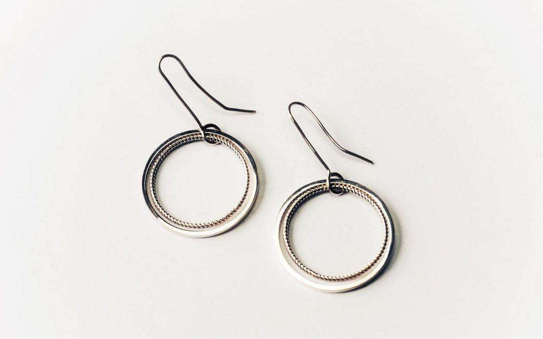 Elliptical earrings 006