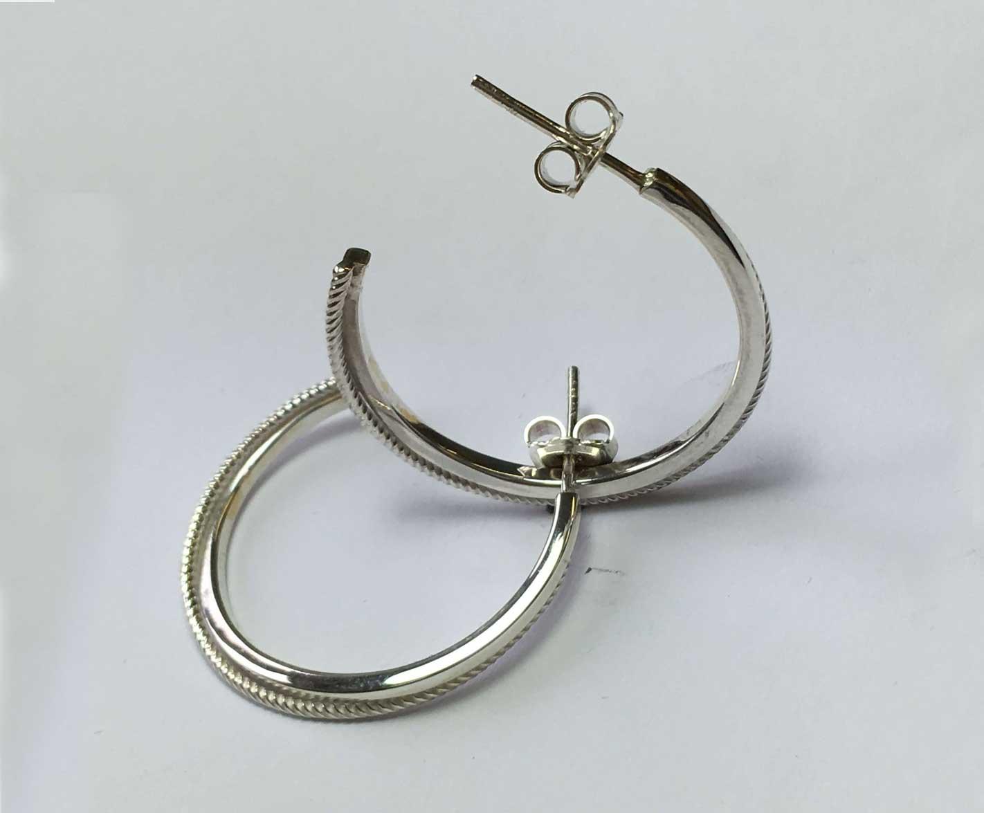 Elliptical Hoop Earrings