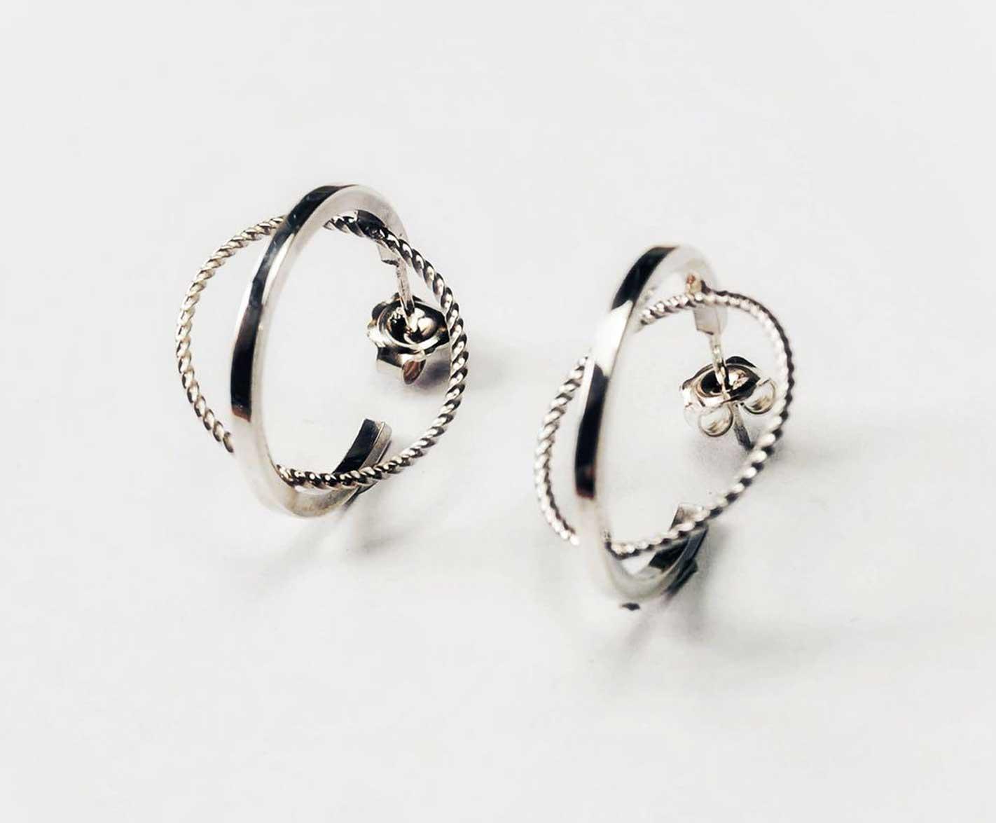 Elliptical Stud Earrings